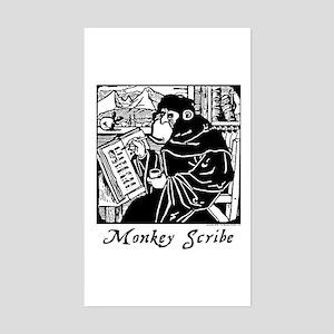 Monkey Scribe Sticker