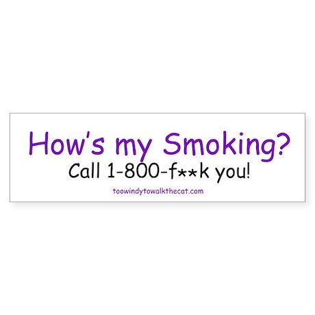 How's My Smoking - censored version