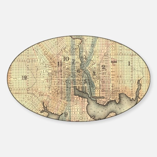 Vintage Map of Baltimore Maryland (1822) Decal