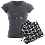 Schnauzer Women's Charcoal Pajamas