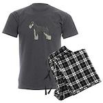 Schnauzer Men's Charcoal Pajamas