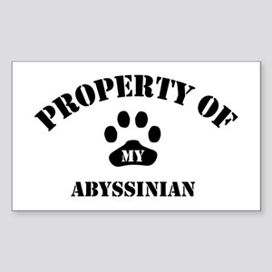 Property of My Abyssinian Rectangle Sticker