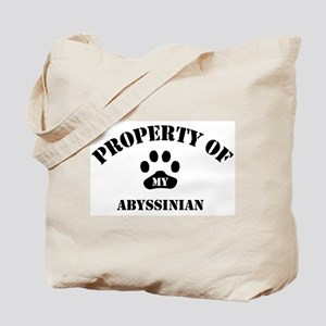 Property of My Abyssinian  Tote Bag