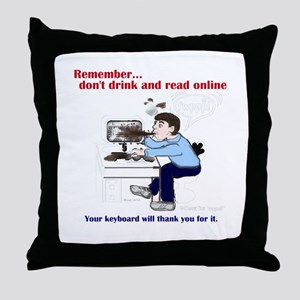 Don't Drink and Read Throw Pillow