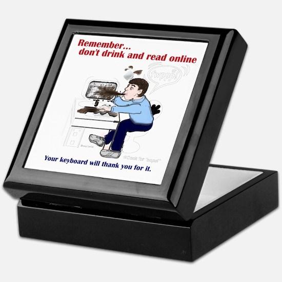 Don't Drink and Read Keepsake Box