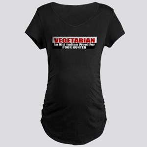 Poor Hunter Maternity Dark T-Shirt