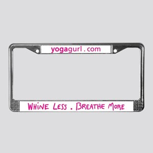 Yogagurl License Plate Frame