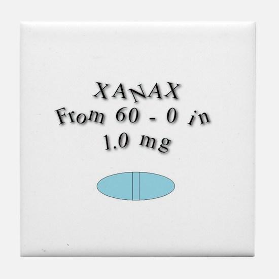 Cute Xanax Tile Coaster