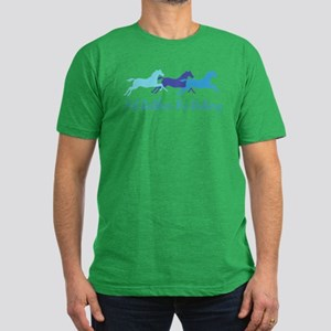 I'd Rather Be Riding Men's Fitted T-Shirt (dark)