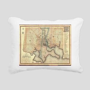 Vintage Map of Baltimore Rectangular Canvas Pillow