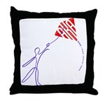 String man Throw Pillow