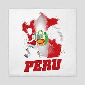 Football Worldcup Peru Peruvians Socce Queen Duvet