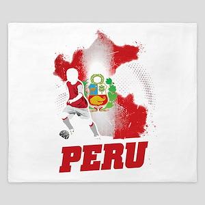 Football Worldcup Peru Peruvians Soccer King Duvet