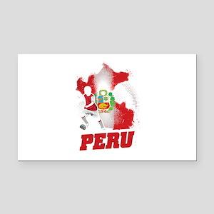 Football Worldcup Peru Peruvi Rectangle Car Magnet
