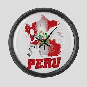 Football Worldcup Peru Peruvians Large Wall Clock
