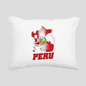 Football Worldcup Peru P Rectangular Canvas Pillow