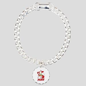 Football Worldcup Peru P Charm Bracelet, One Charm