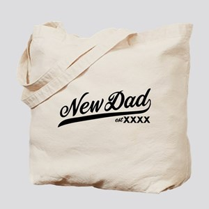 New Dad Personalizable Tote Bag