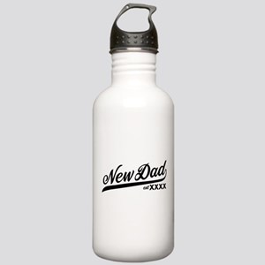 New Dad Personalizable Stainless Water Bottle 1.0L