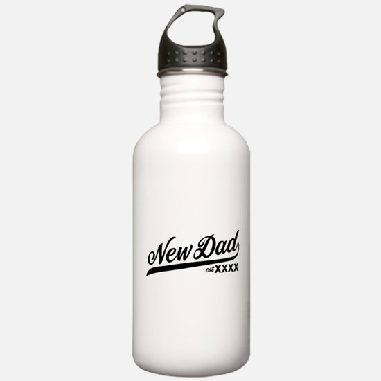New Dad Personalizable Water Bottle