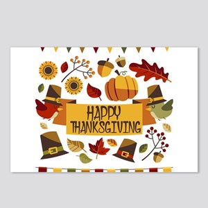 happy thanksgiving day! Postcards (Package of 8)