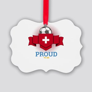 Football Swiss Switzerland Soccer Picture Ornament
