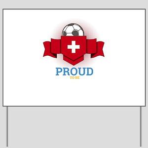 Football Swiss Switzerland Soccer Team S Yard Sign