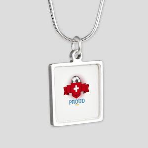 Football Swiss Switzerland Soccer Team S Necklaces