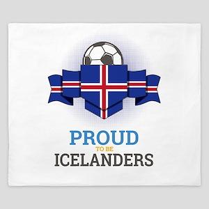 Football Icelanders Iceland Soccer Team King Duvet