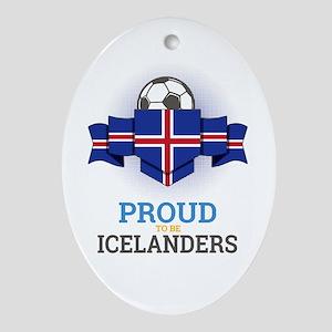Football Icelanders Iceland Soccer T Oval Ornament