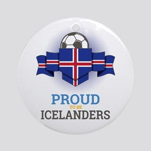 Football Icelanders Iceland Soccer Round Ornament