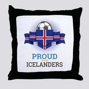 Football Icelanders Iceland Soccer Te Throw Pillow