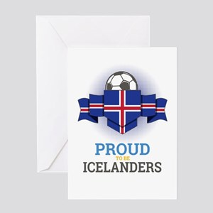 Football Icelanders Iceland Soccer Greeting Cards