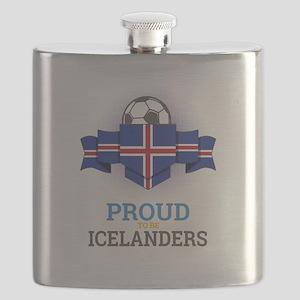 Football Icelanders Iceland Soccer Team Spor Flask