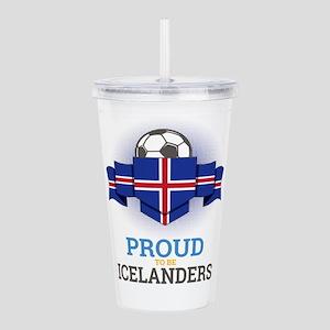 Football Icelanders Ic Acrylic Double-wall Tumbler