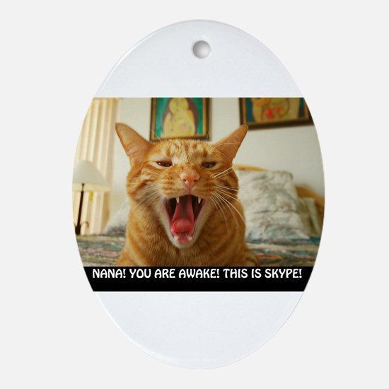 SKYPE Cat Oval Ornament