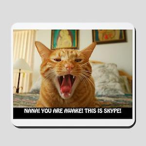 SKYPE Cat Mousepad