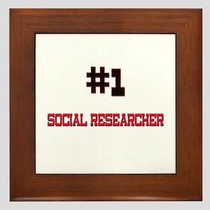 Number 1 SOCIAL RESEARCHER Framed Tile