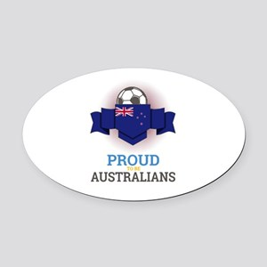 Football Australians Australia Soc Oval Car Magnet