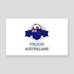 Football Australians Australi Rectangle Car Magnet