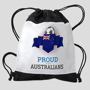 Football Australians Australia Socc Drawstring Bag
