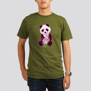 Breast Cancer Panda Bear Organic Men's T-Shirt (da