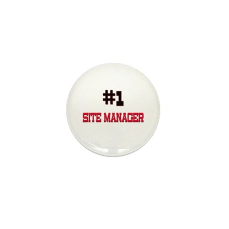 Number 1 SITE MANAGER Mini Button (10 pack)