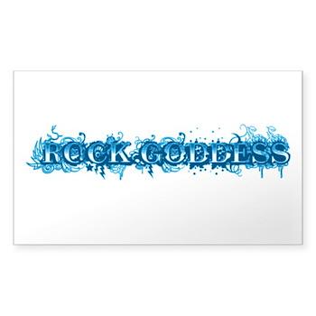 Rock Goddess Rectangle Sticker