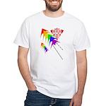 AKA Sport Kite Stacks White T-Shirt