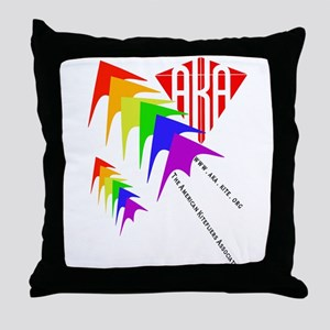 AKA Sport Kite Stacks Throw Pillow