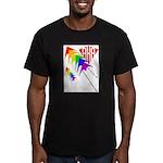 AKA Sport Kite Stacks Men's Fitted T-Shirt (dark)