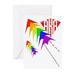 AKA Sport Kite Stacks Greeting Cards (Pk of 10)