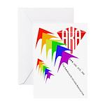 AKA Sport Kite Stacks Greeting Card