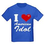 I Love American Idol Kids Dark T-Shirt